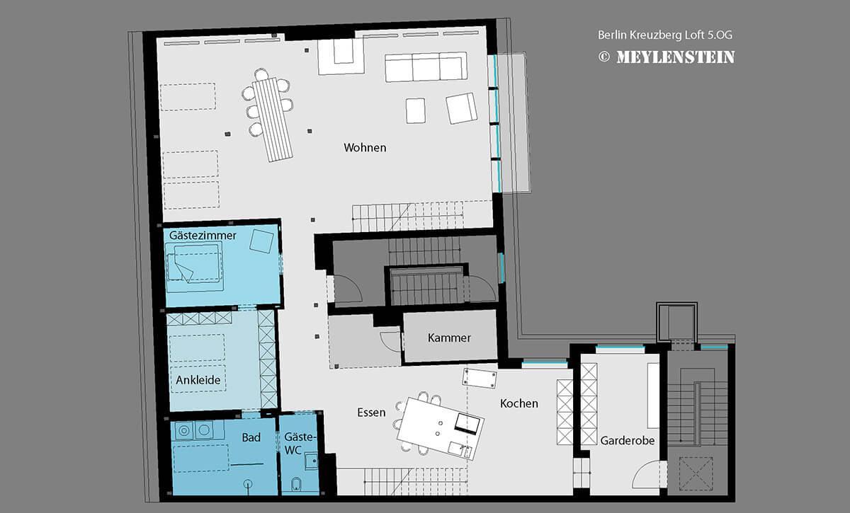 Planung Loft - Berlin - Dipl. Ing. Arch.Tanja Meyle